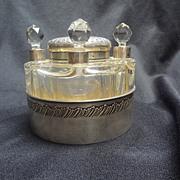 French Perfume and Powder Jar set