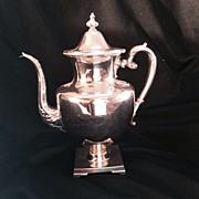 Tea Pot, Silverplate