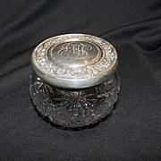Powder Jar, Sterling