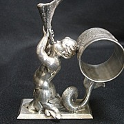 SOLD Figural Napkin Ring, Triton
