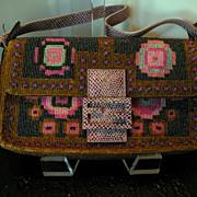 SOLD Authentic Fendi Beaded Baguette Bag/Purse