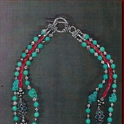 SOLD (Sold) Tibetan Coral Turquoise Kasmiri beads : Call of the Wild