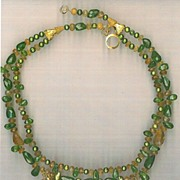SALE Peridot Citrine beads : Envy (Cultured Pearls)