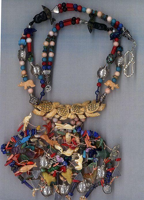 Native American Fetish Beads Lapis, TQ, Bone coral : Fetish Frenzy