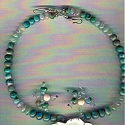 Peruvian AAA Blue Opals & Blue Aquamarine beads : Flower Power