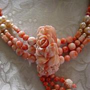 SALE Heavenly Angels (Angel-skin Coral & Cultured Pearls)