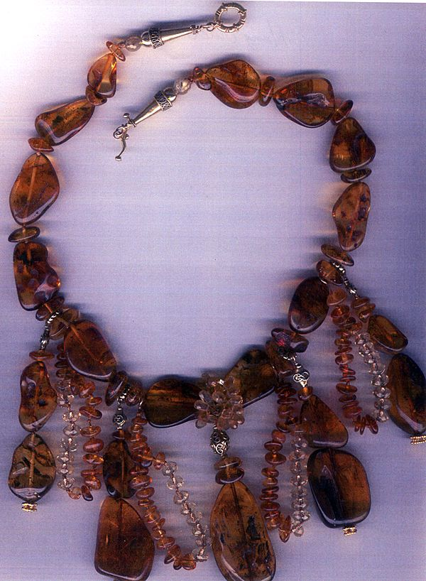 Russian Black Amber & Citrine  beads : Hang Over
