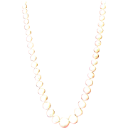 "SALE Angel Skin Coral 17"" Necklace 5.98 mm to 13.27  mm 14 Kt Clasp 33 grams"