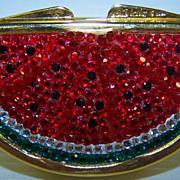SOLD Judith Leiber Watermelon Swarovski Crystal Trinket/Pill Box