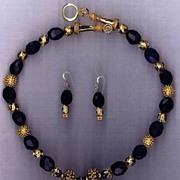 SALE Dark Amethyst beads : Purple Star