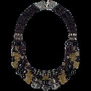 SALE Red Garnets & Citrine beads : Port Wine & Sunshine