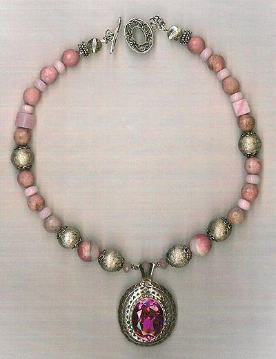 Pink Quartz Pendant Pink Opals : Pink Panther