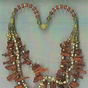 SALE Rough Sponge Coral Frangia & Gold Pearls : Rough Seas - (Cultured Pearls)