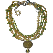 SALE Peridot & Citrine beads : So Sumptuous