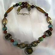 SALE Tibetan Amber & Carnelian beads : Tibetan Fancy 1