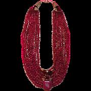 SALE Genuine Ruby beads Cobalt Pink Druzy Drusy Pendant : Pretty N Pink (Rubies)