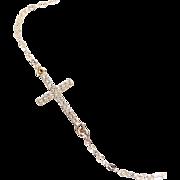 Small Diamond Sideways Cross Necklace 14K Gold Taylor Jacobson, Kelly Ripa Celebrity Jewelry