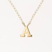 NEW! Tiny Initial Necklace, YOUR Letter, Personalized Necklace - 14K Solid Gold Ultra Feminine