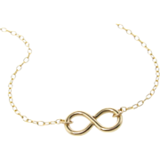 Infinity Necklace - Reese Witherspoon Necklace in 14/20 Gold Filled - Everlasting, Never Endin