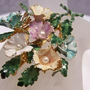 Enameled Flower Bouquet by Sandor