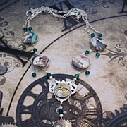 Artisan Steampunk in the Garden Necklace Beauty