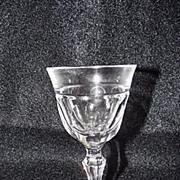 Josair Fine Crystal Empire Pattern Cordial Goblet