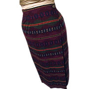 SOLD BEAUTIFUL Pendleton Western Wear Womens 100% Wool Indian Blanket Wrap Skirt 6