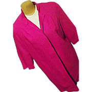 Vintage 1960's Original Lilli Diamond California Womens Pink Dress Coat