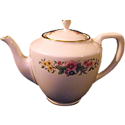 Lenox China Avon Vintage Teapot Ivory Gold Trim Flowers