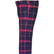 AWESOME Vintage Mens Tartan Plaid Wool Pants Joseph Condello's Son 34W 34L