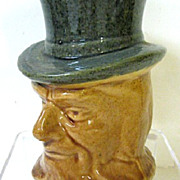 Early 1900s Roseville Pottery Uncle Sam Bank