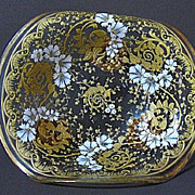 1880s Moser Heavily Enameled Card Receiver, Footed