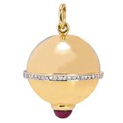 Diamond Ruby Gold Pendant