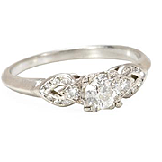 SOLD Two Hearts are One - Diamond Engagement Ring