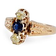 SALE Colorific Victorian Champagne Diamond Ring