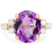 SALE Grapes & Ice: Amethyst Diamond Ring