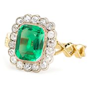 Sass & Envy: Emerald & Diamond Ring