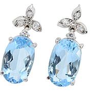 SOLD Tranquility: Aquamarine Diamond Earrings