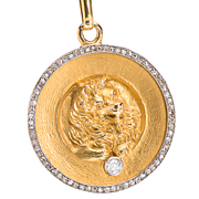 Exemplary Diamond Set Dog Medallion