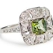 SALE PENDING Cleopatra's Favorite: Peridot Diamond Ring