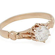 Delicacy Defined: Solitaire Diamond Ring