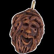 Whimsy - Carved Folk Art Pendant