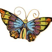 David Andersen Enamel Butterfly Brooch