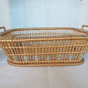 Beautiful 19th Century French Wicker Basket