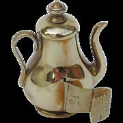SALE Antique English Brass Coffee Pot Tape Measure