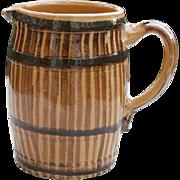 Vintage French Jug in Barrel Form