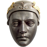 Antique Bronze Mask of Mercury