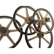 SOLD Set of Four Antique Wagon Wheels from Old Cart or Buggy