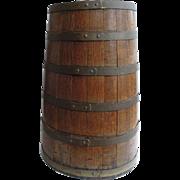 Antique English Coopered Barrel