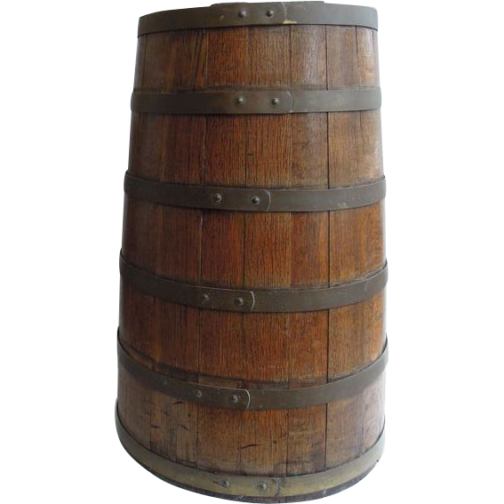 Antique English Coopered Barrel
